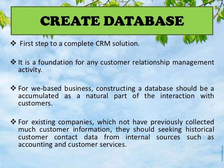 database and customer relationship management