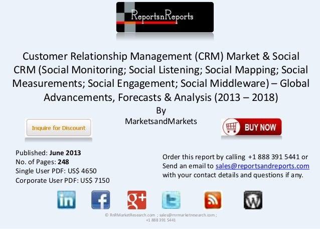 market share analysis customer relationship management software worldwide 2013