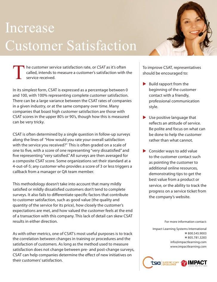 IncreaseCustomer Satisfaction T         e customer service satisfaction rate, or CSAT as it's often         h            ...