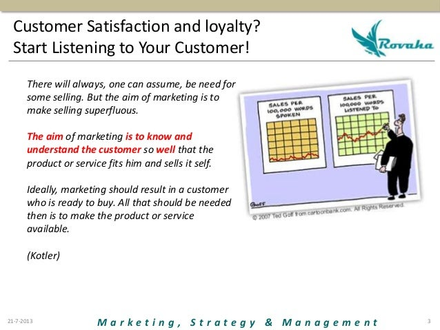 Customer satisfaction and loyalty Slide 3
