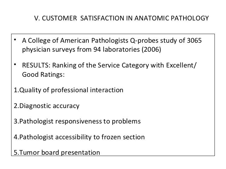 Customer Satisfaction In Laboratory.Pp