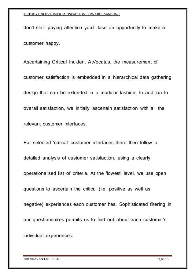 customer satisfaction towards samsung mobile A study on customer satisfaction towards samsung mobile phones in coimbatore city jk bharath assistant professor, department of.