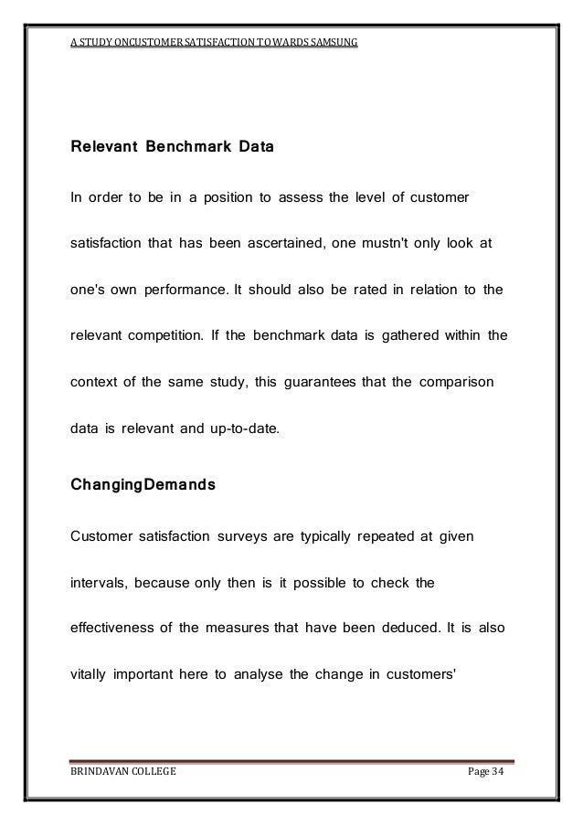 A study on customer satisfaction towards