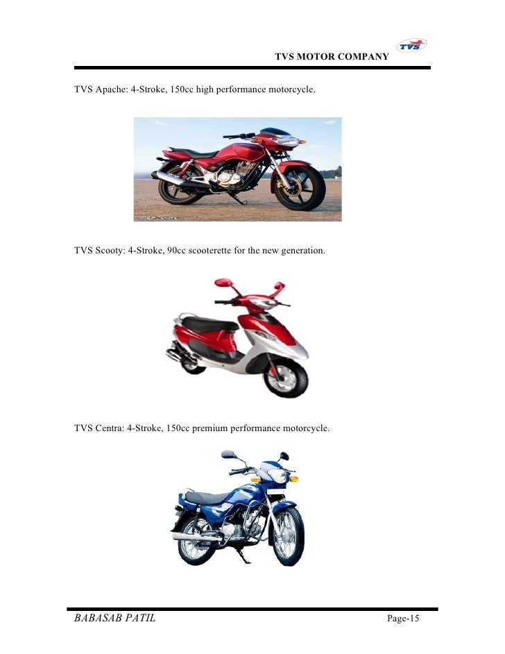 "project report on tvs motors Tvs motor company introduction it gives me an immense pleasure to present you this entire project the topic is ""a study report on customer satisfaction and service analysis of manickbag tvs."