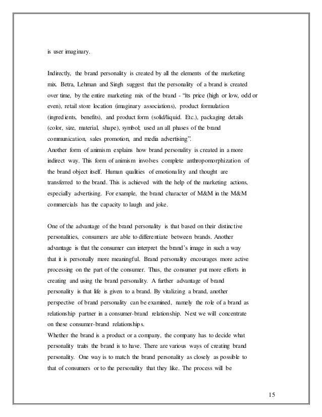 Customer satisfation among the automobile company maruti 1 influence brand personality 15 fandeluxe Gallery