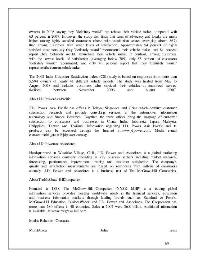 Customer satisfation among the automobile company maruti 1 69 69 owners fandeluxe Gallery