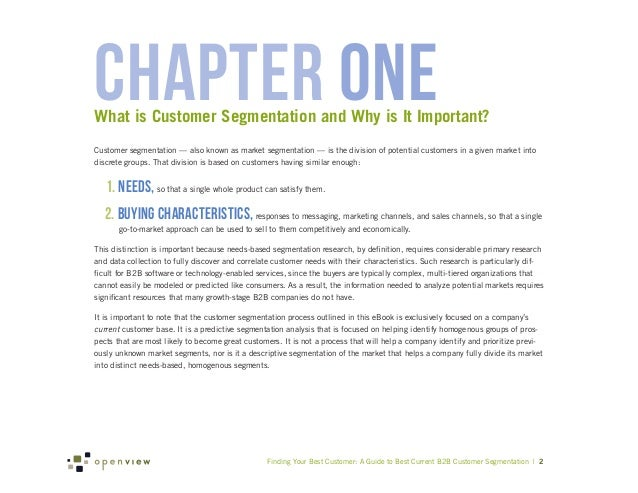 chapter oneWhat is Customer Segmentation and Why is It Important?Customer segmentation — also known as market segmentation...