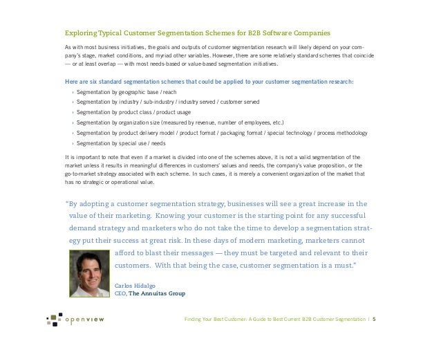 Exploring Typical Customer Segmentation Schemes for B2B Software CompaniesAs with most business initiatives, the goals and...