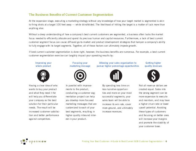 The Business Benefits of Current Customer SegmentationAt the expansion stage, executing a marketing strategy without any k...