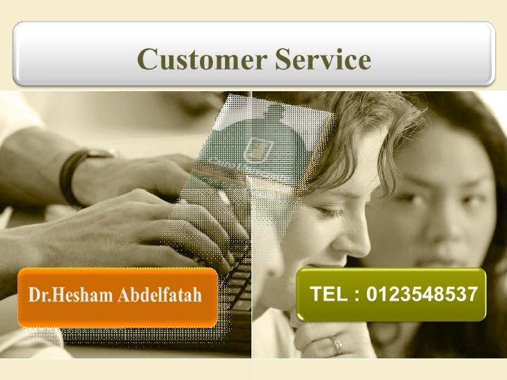 خدمة العملاء  Slide 1