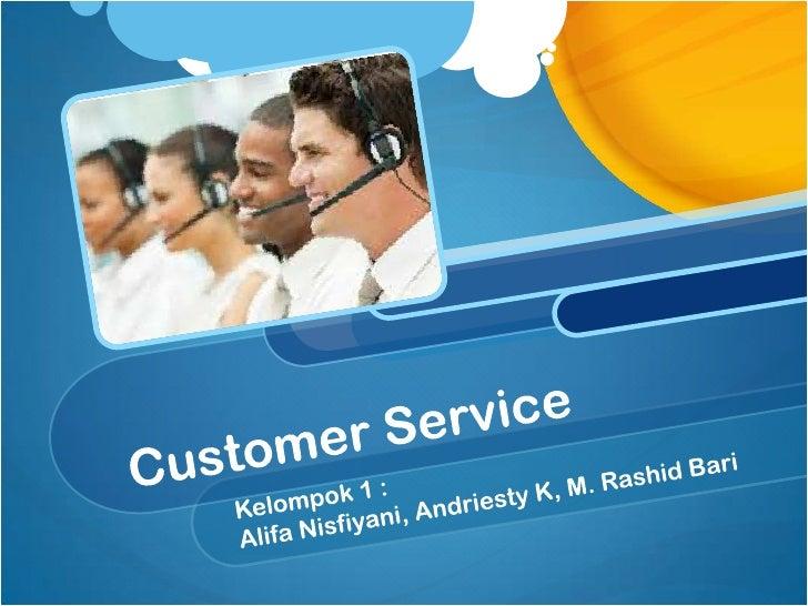 MENU Customer ServiceManagemen Komplain Service Recovery