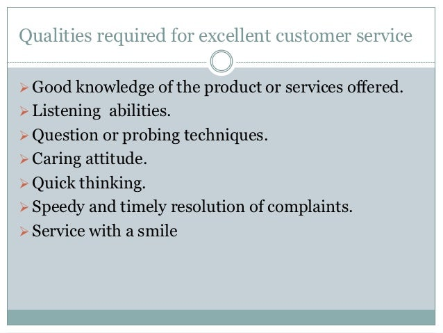 qualities of a good customer care agent