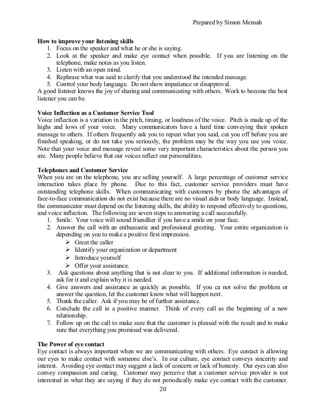 resume cover letter for customer service