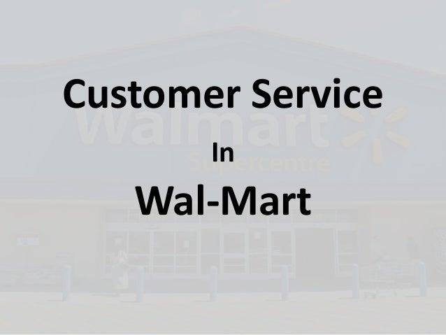 Customer Service In Wal-Mart