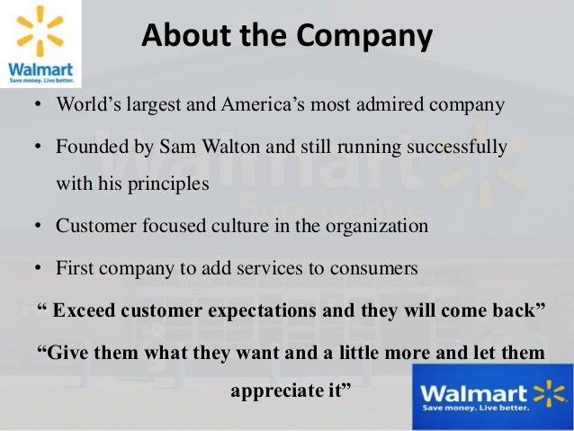 Customer service at Wal-Mart