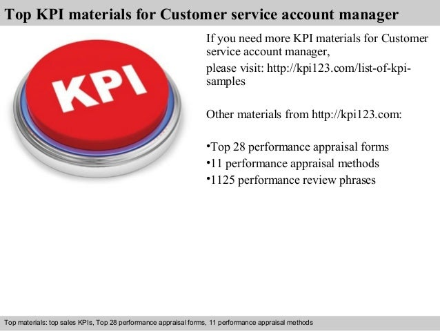 customer service account manager kpi