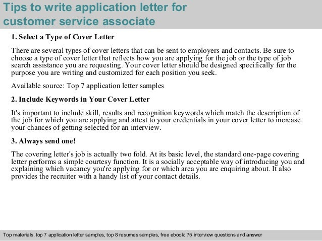 3 tips to write application letter for customer service associate