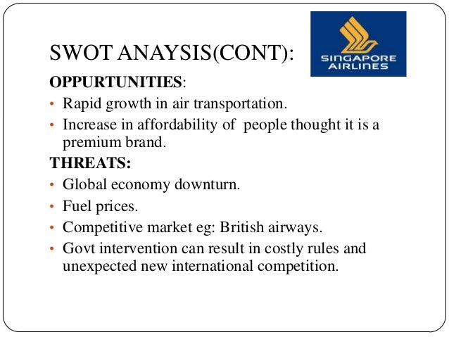 singapore airlines analysis Singapore international airlines: company analysis [pic] a marketing study in partial fulfillment of the module adpm/01 supervised by ms charmie jayaweera abstract this report is a comprehensive study on the chronological overview of the singapore international airlines (sia) and gives a brief profile of its various businesses.