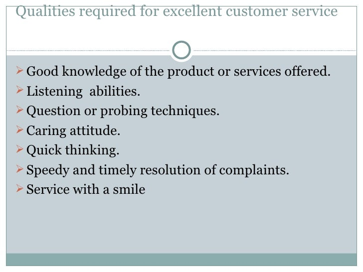 qualities required for excellent customer service