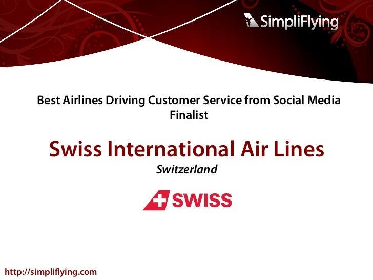 SFAwards12: Best Airlines Driving Customer Service from Social Media (Finalist Presentations) Slide 2