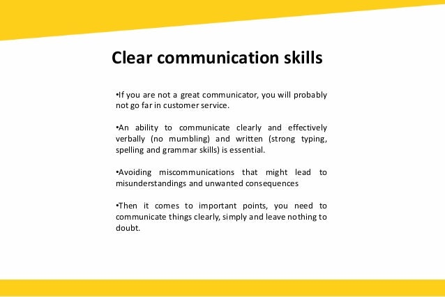 communication skills in customer service