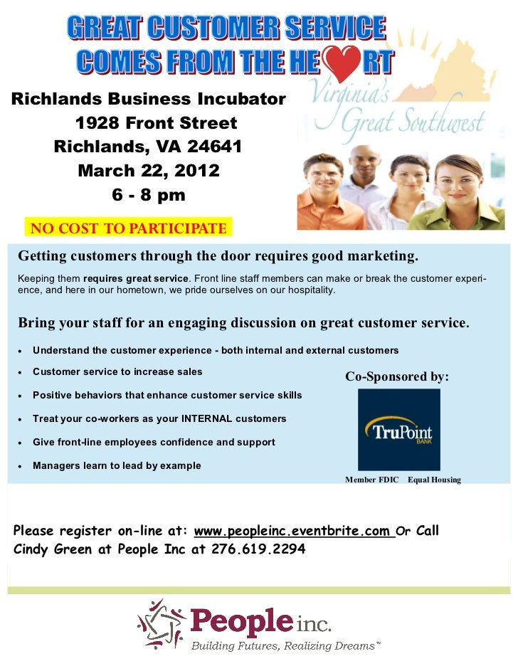 Richlands Business Incubator      1928 Front Street    Richlands, VA 24641       March 22, 2012          6 - 8 pm    NO CO...