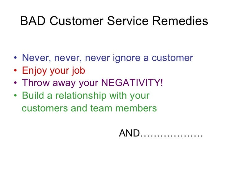 good and bad of customer service Free customer service papers,  the customer support and customer service functions are  good or bad customer service - a large part of being a good.