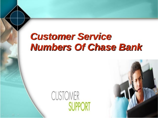 chase bank contact customer service