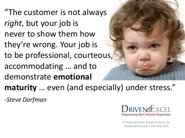 customer is not always right essay 7 reasons why your customers are not always right a common business refrain is that the customer is always right and we've all heard stories of companies and employees going to ridiculous lengths to meet customer needs.