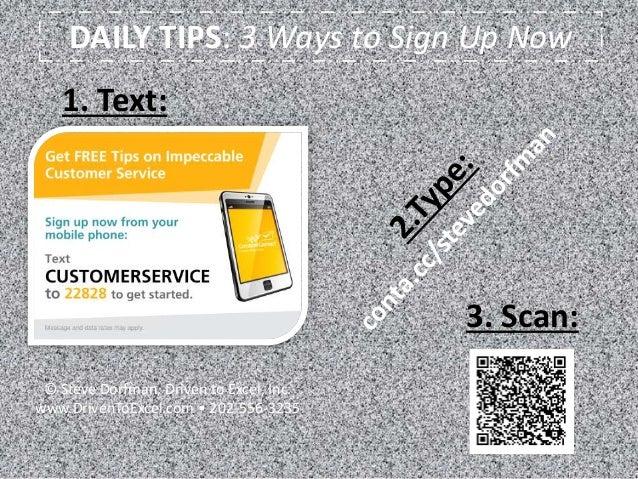 daily customer service tips