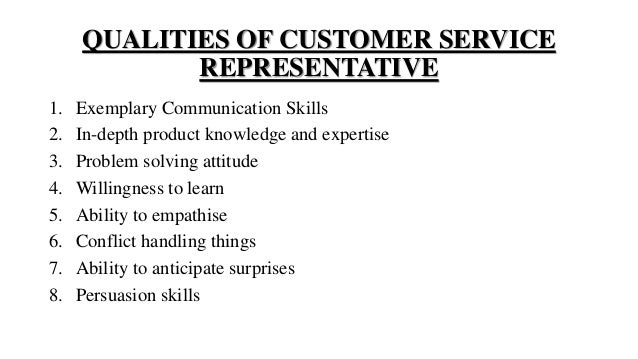 skills and qualifications for customer service representative