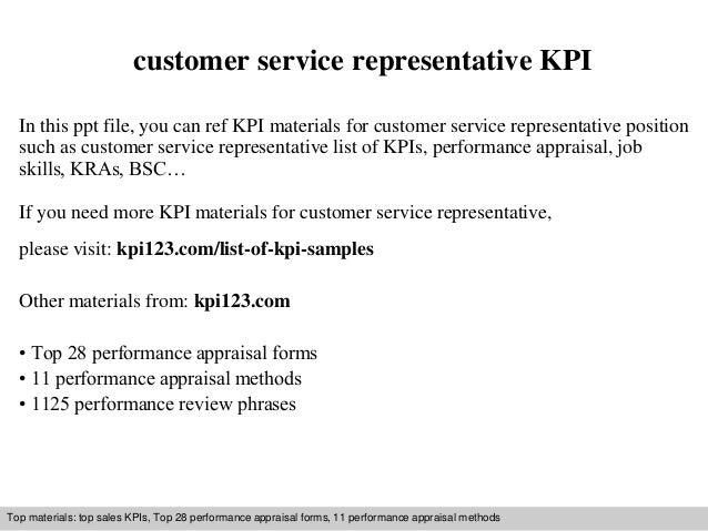 Customer service representative kpi