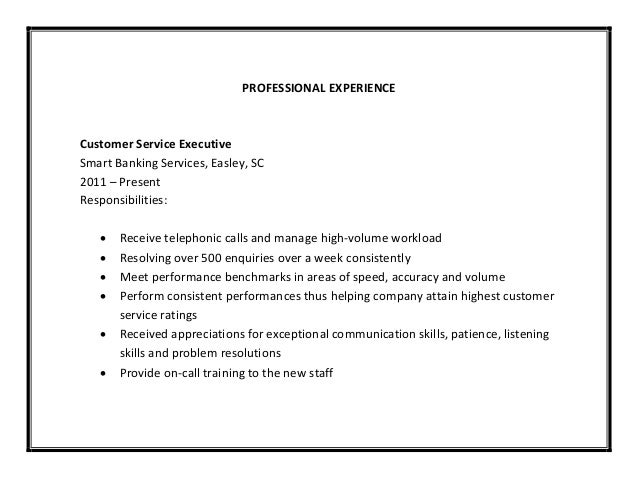 several computer software 8 professional experience customer service - Customer Service Responsibilities For Resume