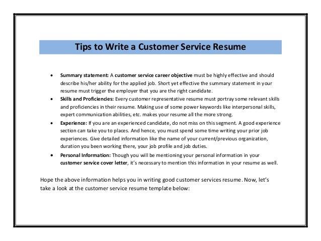 read full article httpwwwbestofsampleresumecomcustomer service resume template 3 - Resume Template Customer Service
