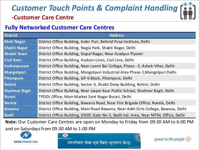 Customer services and initiatives @ tata power delhi ...