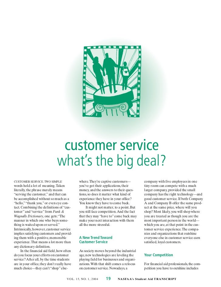 customer service                               what's the big deal?CUSTOMER SERVICE. TWO SIMPLE                 where. The...