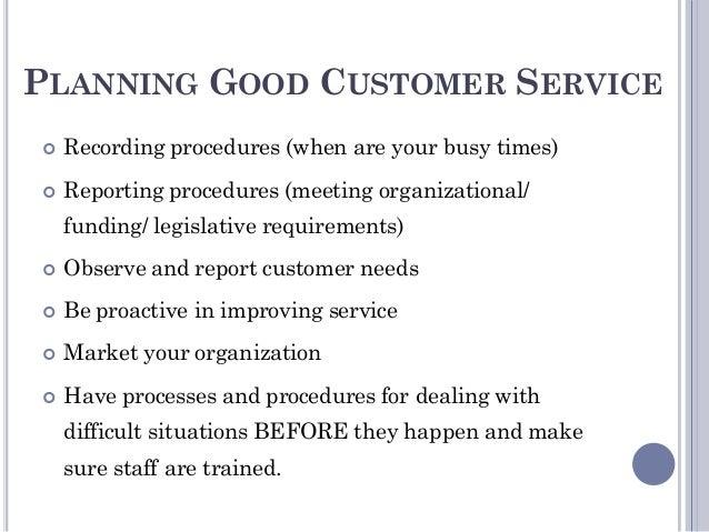 organization 10 planning good customer service