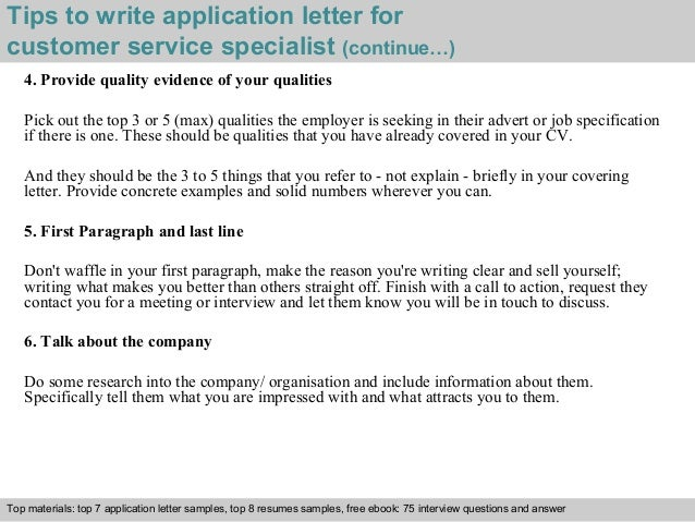 customer service application questions