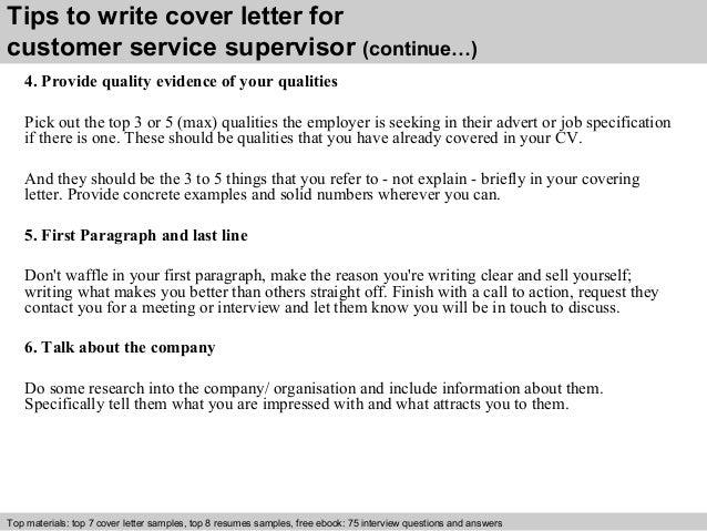 Restaurant Supervisor Cover Letter