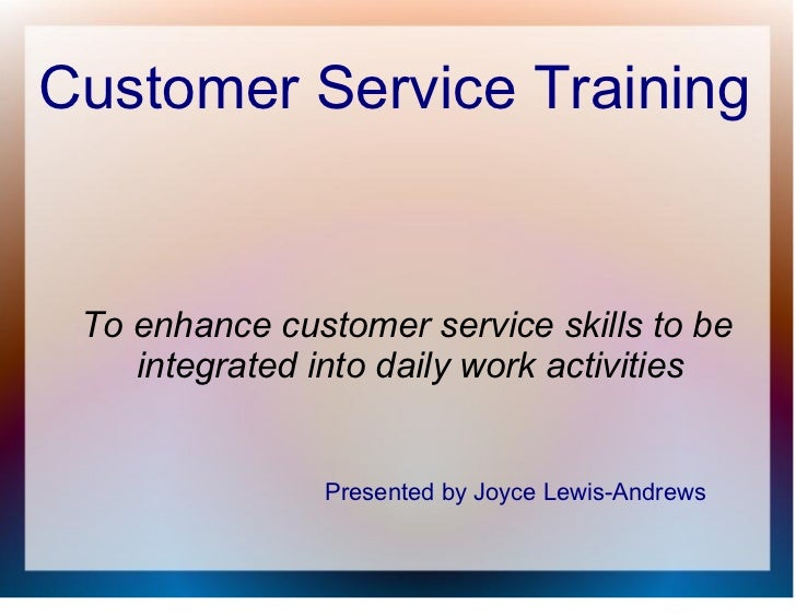 customer service training general