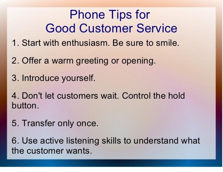 training on customer service skills