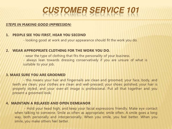what is a good example of customer service