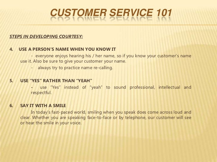 customer service and training While a variety of elements go into creating a successful business, customer service is center-stage every interaction the company has with a customer (or potential customer) can affect the.