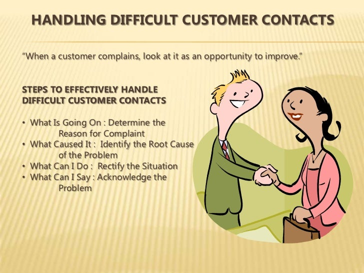 SAP Ad; 81. HANDLING DIFFICULT CUSTOMER CONTACTSu201cWhen A Customer Complains,  Look ...