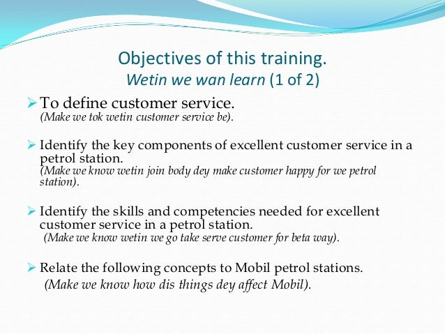 customer service training for mobil filling station