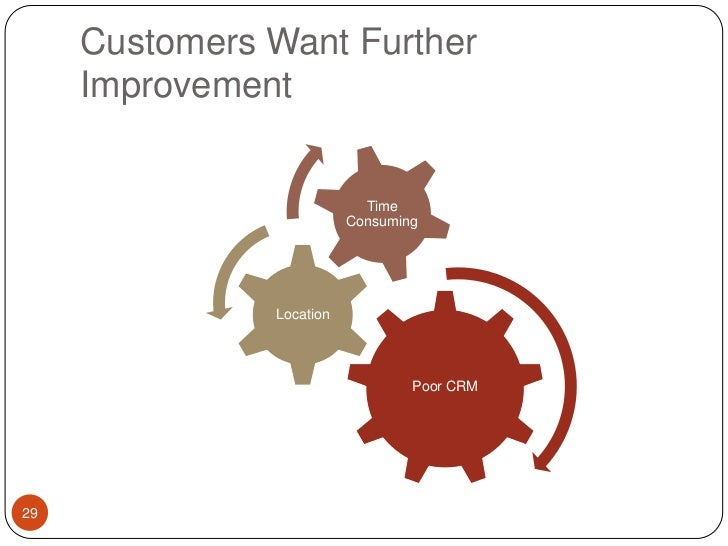 Customers Want Further Improvement<br />29<br />