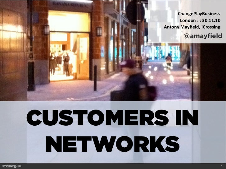 ChangePlayBusiness                  London : : 30.11.10         Antony Mayfield, iCrossing                     @a...