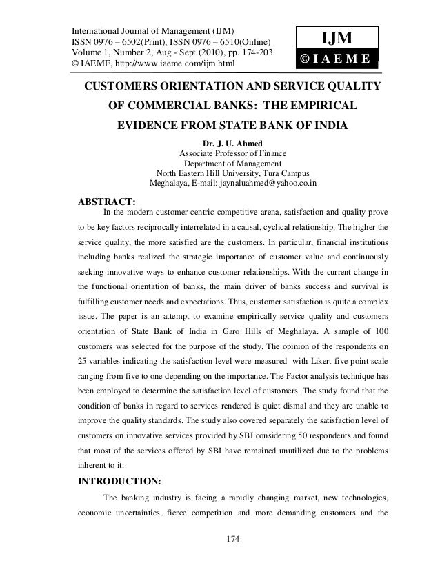Literature review of service quality