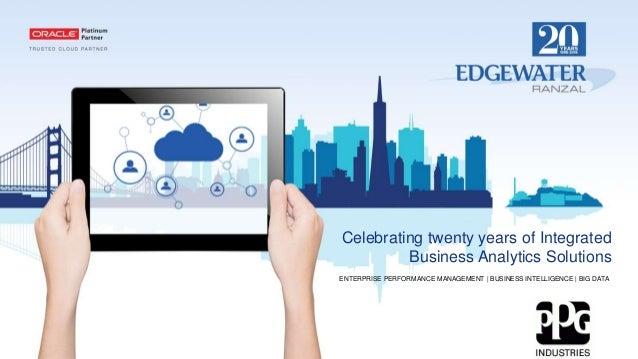 Celebrating twenty years of Integrated Business Analytics Solutions ENTERPRISE PERFORMANCE MANAGEMENT | BUSINESS INTELLIGE...