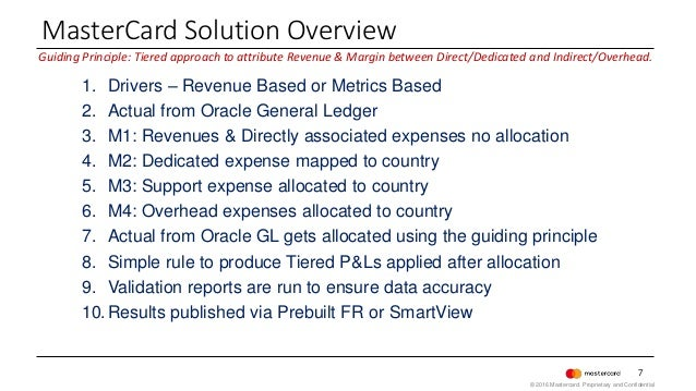 7 Guiding Principle: Tiered approach to attribute Revenue & Margin between Direct/Dedicated and Indirect/Overhead. 1. Driv...